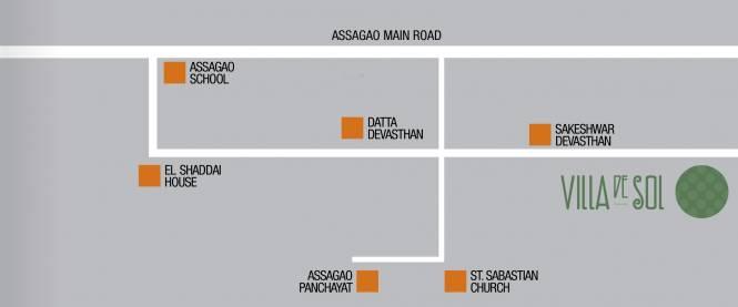 R Square Villa De Sol Location Plan