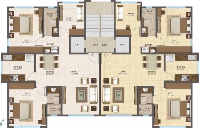 Raheja Shakti Regency Cluster Plan
