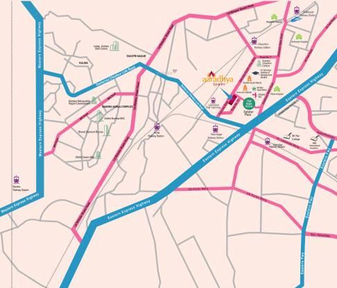 Man Aaradhya Tower Location Plan