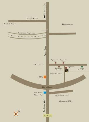 Auric Auric Villas Prime Location Plan