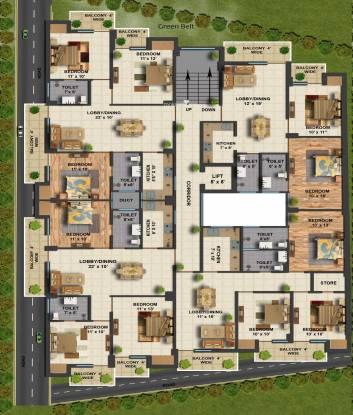 Resizone Krishna Arcade Cluster Plan