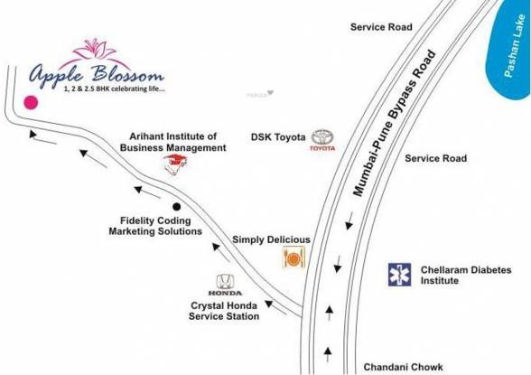 Yashodhan Apple Blossom Location Plan
