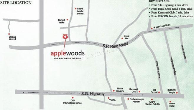 Applewoods Sorrel Location Plan