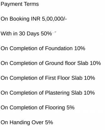 Saket Swarna Villas Payment Plan