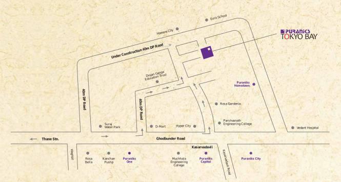 Puraniks Tokyo Bay Location Plan