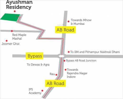 Reputed Ayushman Residency Location Plan