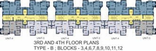 Ansal Serene Lakeview Apartment Cluster Plan