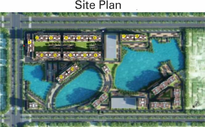 Ansal Serene Lakeview Apartment Site Plan