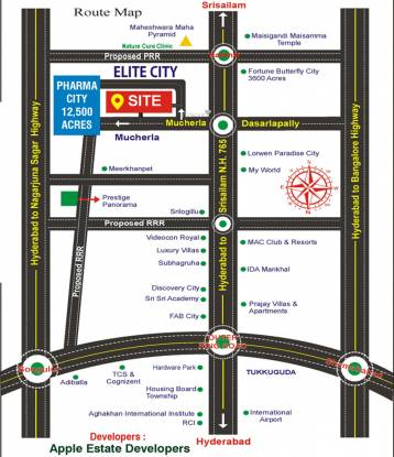 Varistha Elite City Location Plan