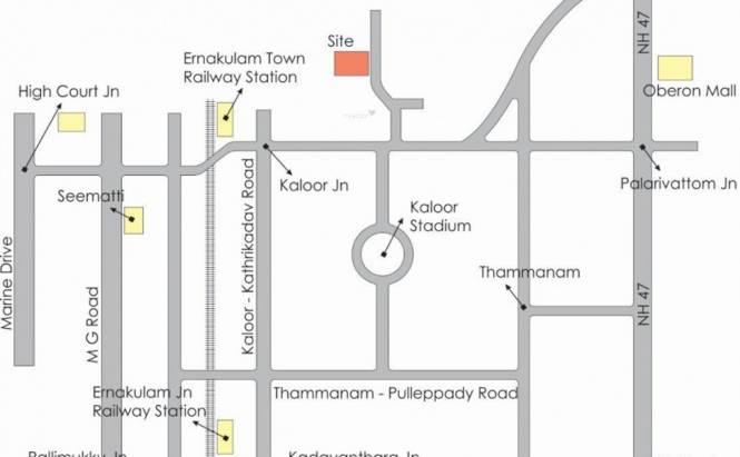Travancore Queens Park Classic Villas Location Plan