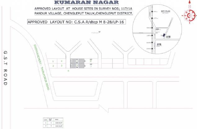 Kasi Kumaran Nagar Layout Plan