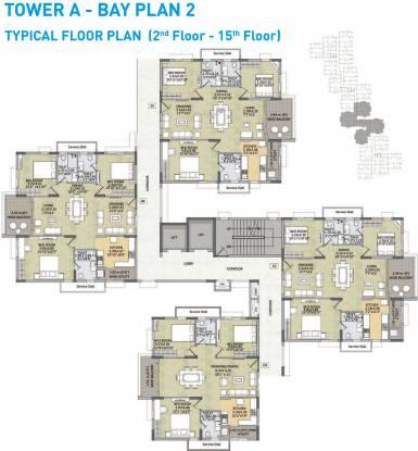 Kalpataru Residency Cluster Plan