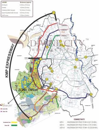 Divine Divine City Location Plan