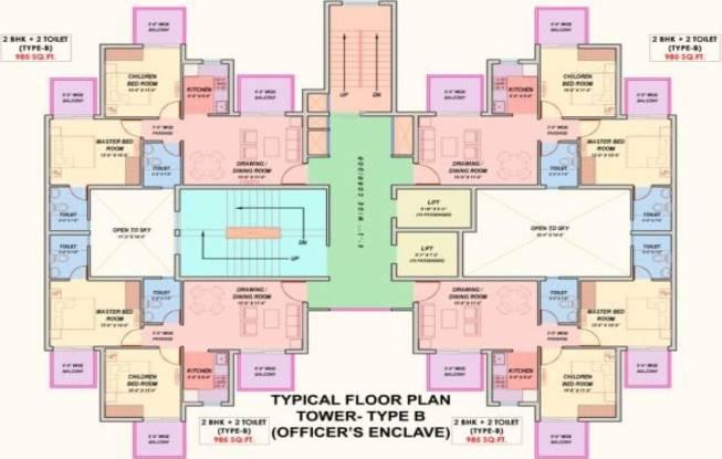 Supertech Officers Enclave Cluster Plan