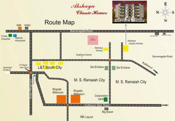 Akshaya Classic Homes Location Plan