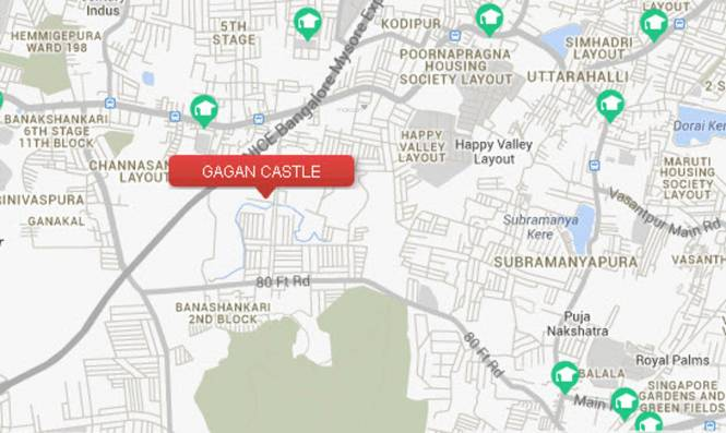 Gagan Castle Location Plan