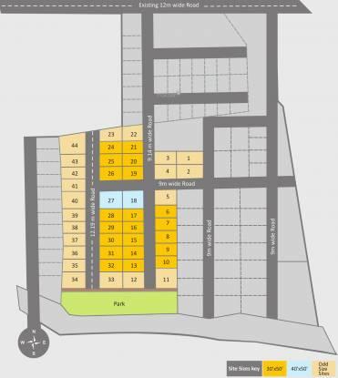 Aashrithaa Srinidhi Square Site Plan