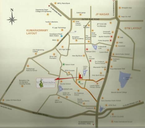 Adiga Vishwendra Location Plan