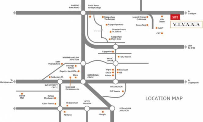 Gauthami Vivana Location Plan