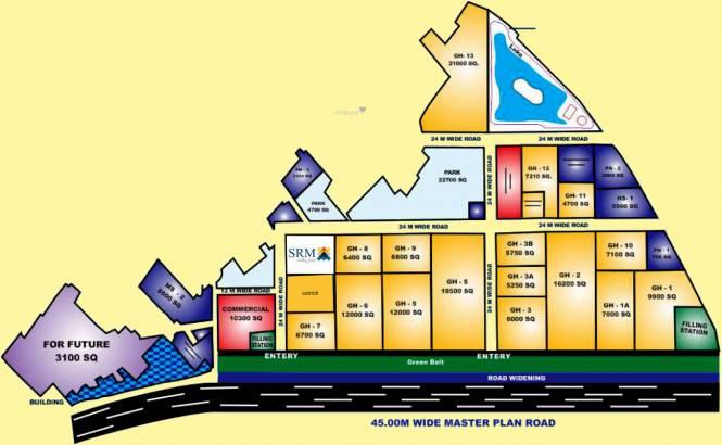 SRM Shree Raj Mahal Location Plan