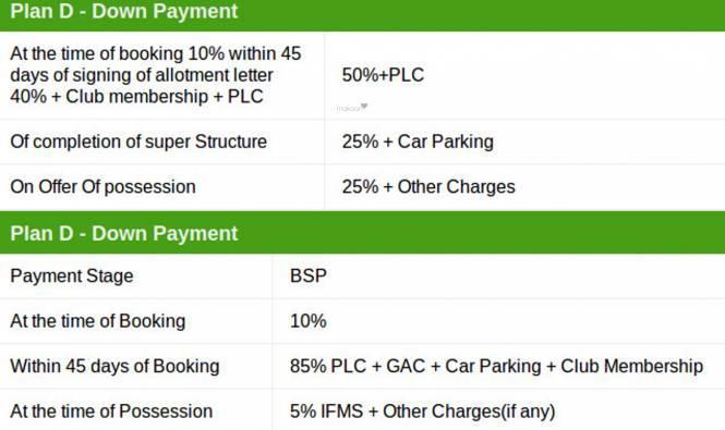 SRM Shree Raj Mahal Payment Plan