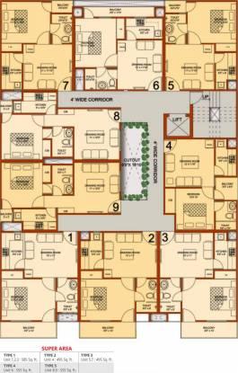 Radhika Homes Cluster Plan