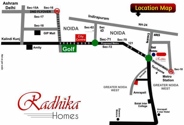 Radhika Homes Location Plan
