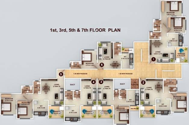 GBK Vishwajeet Paradise Cluster Plan