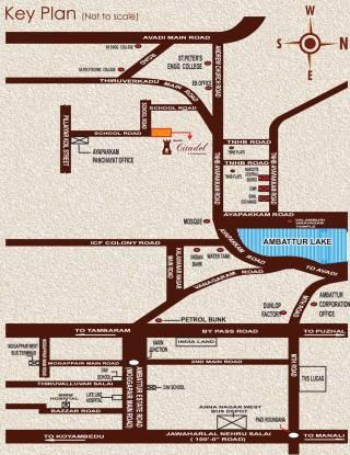 Rajus Citadel Location Plan