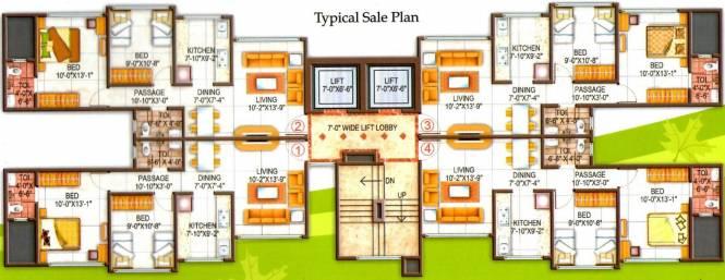 Vaibhavlaxmi Green Vista Cluster Plan