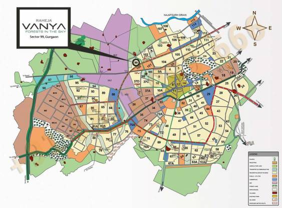 Raheja Vanya Location Plan
