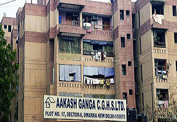 CGHS Akash Ganga Apartments Elevation