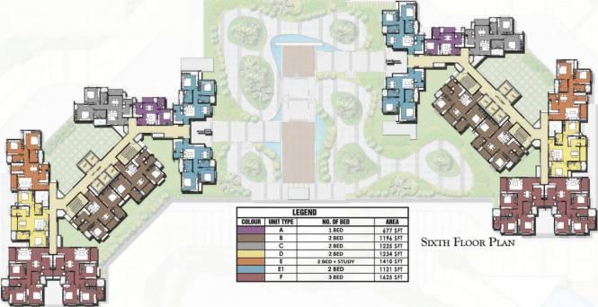 Prestige Valley Crest Cluster Plan