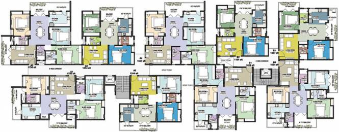 Indes Mayflower Apartments Cluster Plan