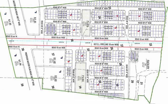 Platinum Tejasvi Greens Plots Layout Plan