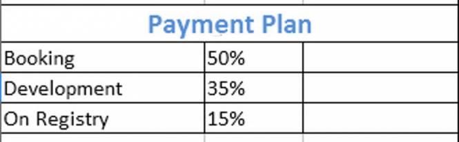 Platinum Tejasvi Greens Plots Payment Plan