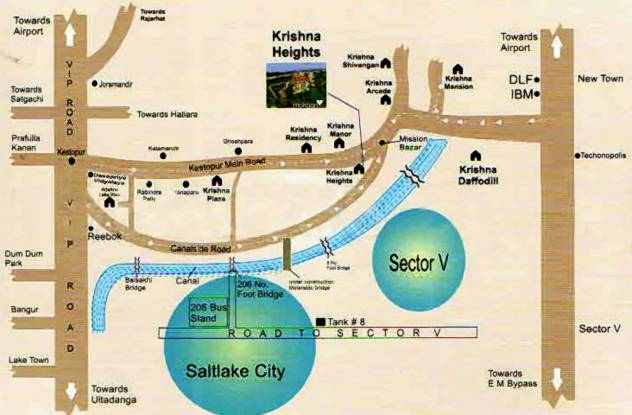 Krishna Heights Location Plan