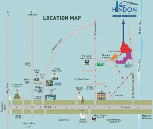 Rishabh Hindon Green Valley Location Plan