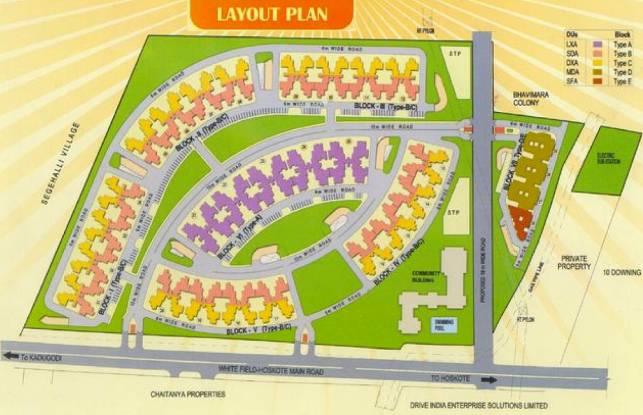 AWHO Sandeep Vihar Layout Plan