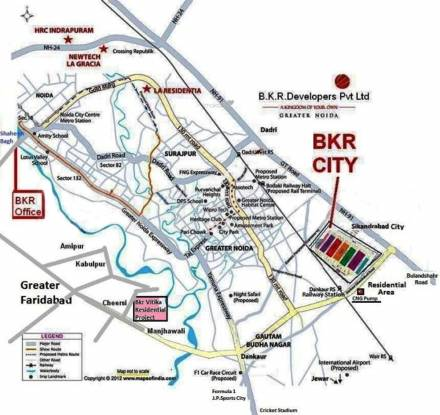 BKR Green City Location Plan