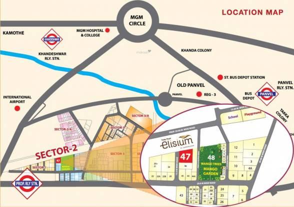 Today Elisium Location Plan