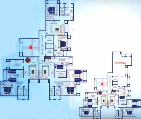 Dwarkesh Mahesh Tower Cluster Plan