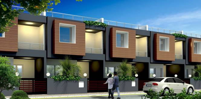 Front Elevation Row House : Surya row house in indira nagar lucknow flats for