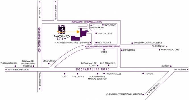 SPE Mono City Location Plan