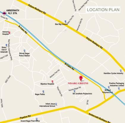 Nisarg Greens Location Plan