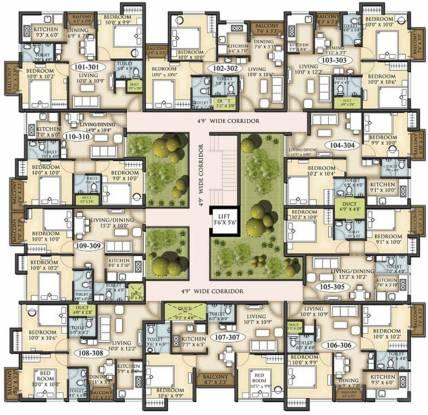 Shree Arihant Nirmaan Enclave Cluster Plan