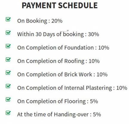 Jeni Joel Brindavan Payment Plan