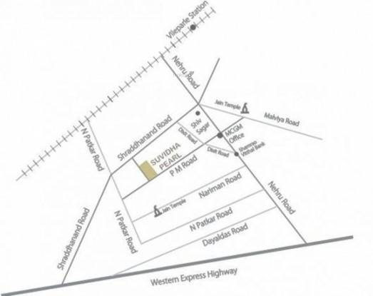 Suvidha Pearl Location Plan