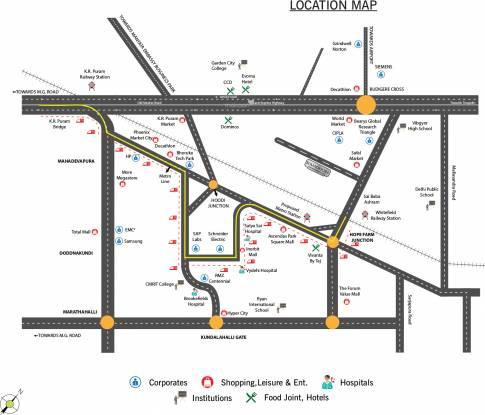 Sumadhura Eden Garden Location Plan