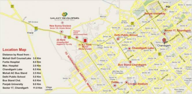 Galaxy Palm 25 Location Plan
